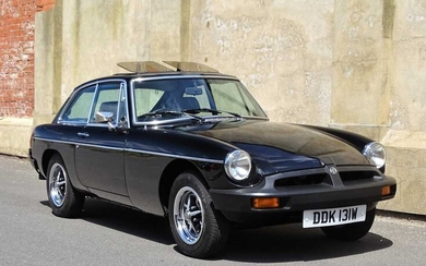 1980 MG B GT 31,000 miles from new