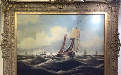 19th Century School. Sailing Smack and other sailing ships ...