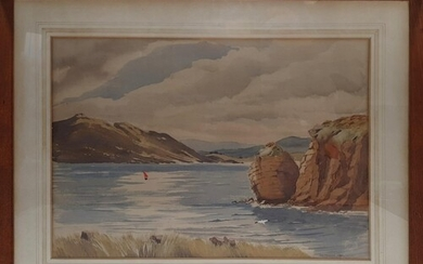 A 20th Century Watercolour of the West of Ireland by A E O'D...