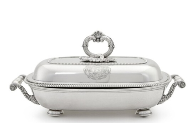 A George III Silver Entrée Dish and Cover on Sheffield-Plated Warming Stand, Digby Scott & Benjamin Smith I, London, 1804