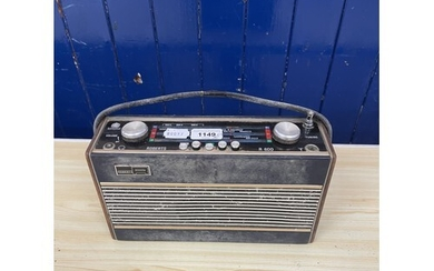 A Roberts R600 portable radio, and various other audio equip...