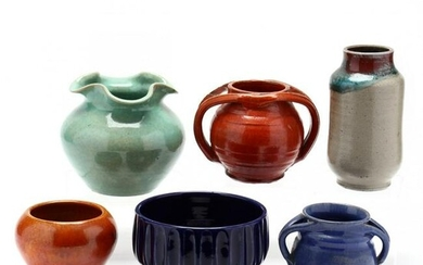A Selection of Six NC Pottery Vessels