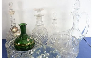 A good selection of glassware to include an early 19th centu...