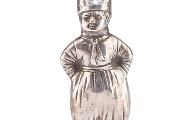 AN EARLY 20TH CENTURY DUTCH SILVER NOVELTY PEPPER POT, by H....