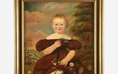 American School 19th century Portrait of a Young Child