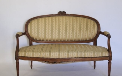 An Antique Carved & Upholstered Louis