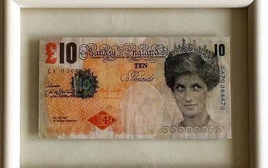 "Banksy (Bristol, 1974) ""Di-faced Tenner 10 Pounds"" offset print on..."