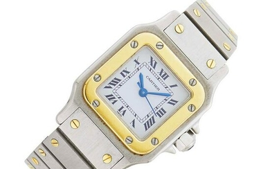 Cartier Lady's Stainless Steel and Gold 'Santos'