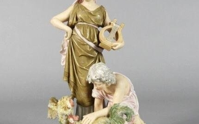 Continental Neoclassical Style Porcelain Group