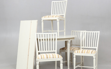 FOOD GROUP, 5 parts, Late Gustavian style, 20th century.