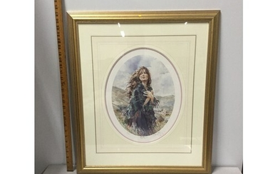 """Framed and mounted Gordon King print """"Blyth"""" signed by artis..."""