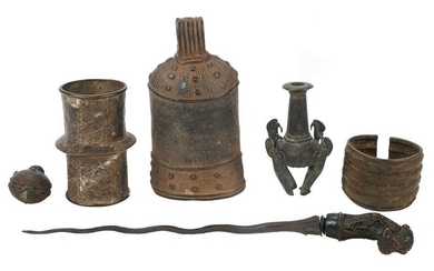 Group of African and Javanese Artifacts, early 20th C.