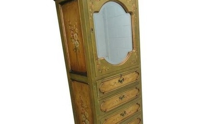 Italian Style Hand Painted Lingerie Cabinet