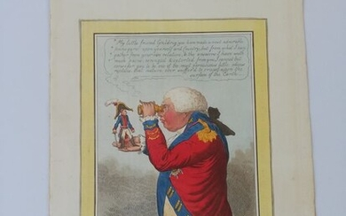 James Gillray - The King of Brobdingnach and Gulliver - 1803
