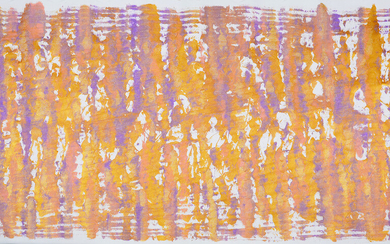 """MORITZ SOMMER. WIEN, ÖSTERREICH. """"Gold in Violet"""". Large format painting. Acrylic on canvas."""