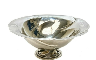 Peer Smed Sterling Silver Hand Wrought Footed Bowl
