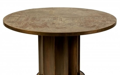 Philip & Kelvin LaVerne Odyssey Round Dining Game Table