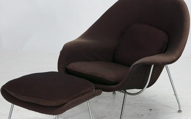 Saarinen for Knoll Womb Chair and Ottoman.