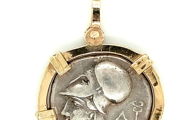 Silver Stater Coin Pendant 350-300BC