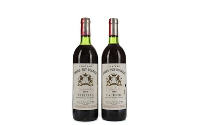 TWO BOTTLES OF CHATEAU GRAND PUY DUCASSE 1980