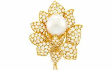 Van Cleef & Arpels Gold, Diamond and South Sea Cultured