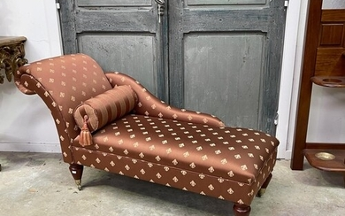 Victorian style small scale single ended chaise lounge, by S...