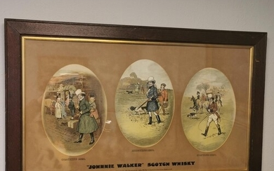 Vintage Early Johnnie Walker Scotch Whisky Advertising Print...