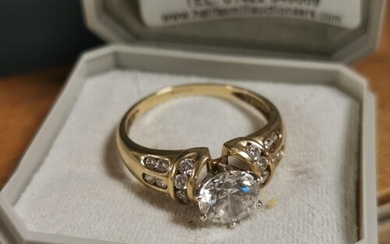 14ct Gold & Marcasite/CZ Ring