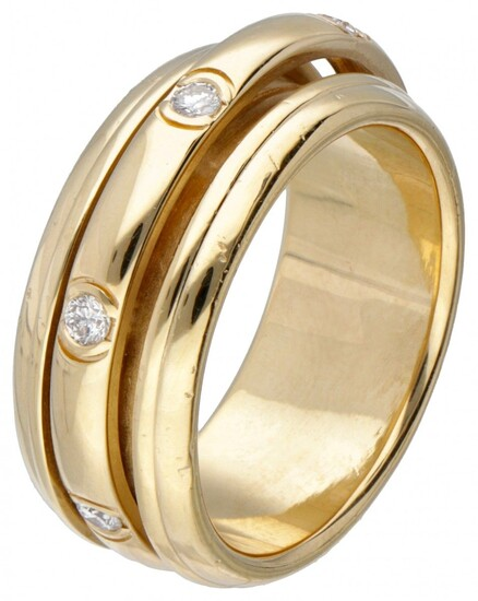 18K. Yellow gold Piaget 'Possession' ring set with approx. 0.28 ct. diamond.