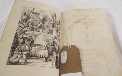 A 1901 Peoples Edition 'Alice's Adventures in Wonderland' by...