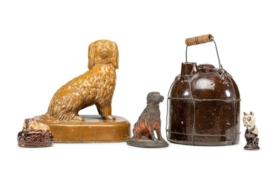 A Group of Ceramic Dogs