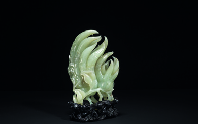 A WHITE JADE 'FINGER CITRON' CARVING