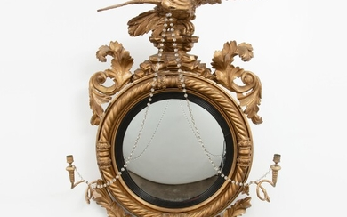 American Federal Eagle Bulls Eye Mirror, Early 19th c.