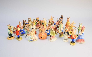 Approximately thirty-two Royal Doulton Bunnykins figures