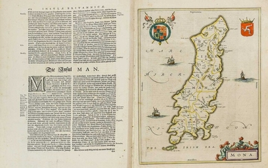 British Isles. Collection of 17 engraved maps, 17th-19th century