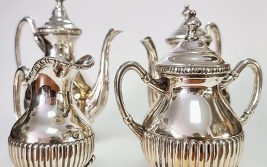 Coffee and tea service - .833 silver - Portugal - Mid 20th century