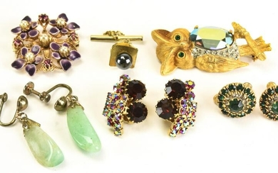 Collection of Mid Century Costume Jewelry Pieces