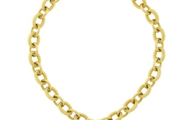 David Yurman Gold Chain Necklace with Green Chrysoprase and Diamond Pendant