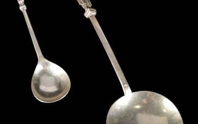 English Figural Sterling Silver Spoons, circa 1880