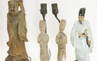 Four Chinese Figures as Lamps
