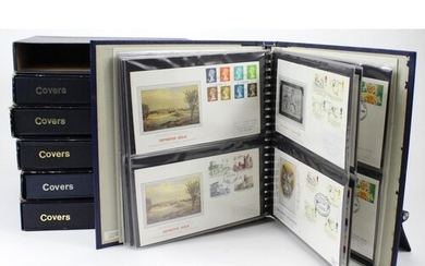 GB FDC collection in 6x ring binders. Presentation Philateli...