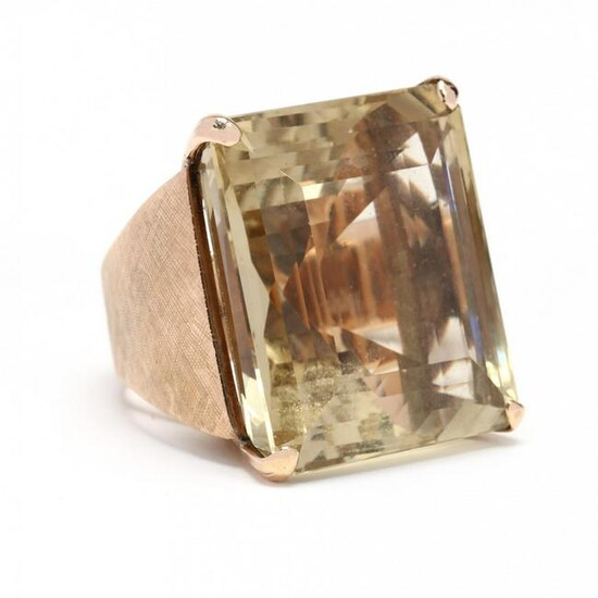Gold and Citrine Cocktail Ring