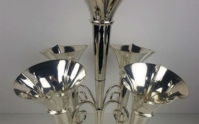 James Dixon& Sons - Large Victorian Antique Silver Plated Epergne - Silverplate