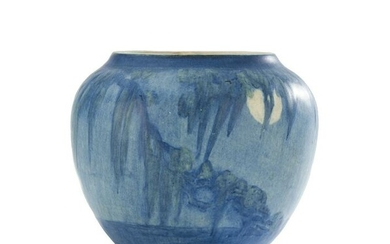 """Newcomb College """"Moon and Moss"""" Art Pottery Vase"""