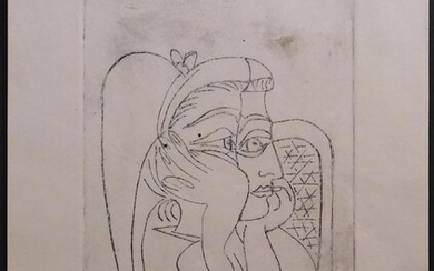 PABLO PICASSO, AFTER: PORTRAIT OF WOMAN IN A CHAIR