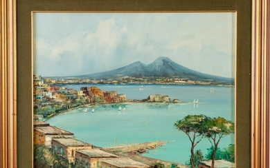Painting of the Gulf of Naples.