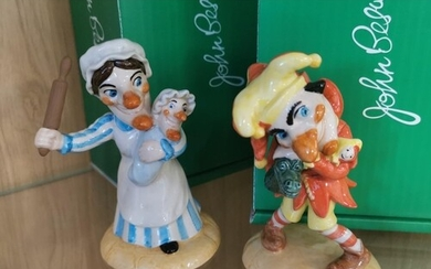 Pair of Limited Edition Beswick Punch & Judy Figures 349/250...
