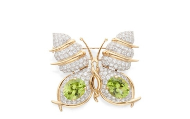 Peridot and Diamond Clip-Brooch, Schlumberger for Tiffany & Co.