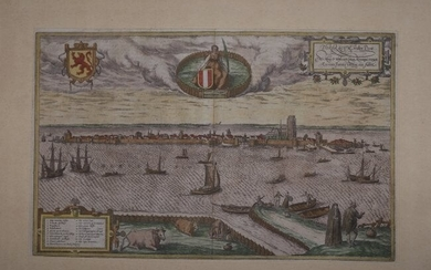 Pictorial View from Dordrect, Holland, Braun & Hogenber