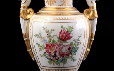 (-), Porcelain decorative vase in Empire style, with...